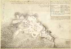 Plan Of The Works On The Morne Fortune In The Island Of St. Lucia